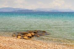 Средиземное море в Корфу Стоковые Изображения