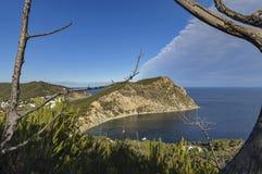Средиземное море и корабль Стоковое Фото