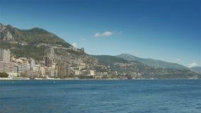 Средиземное море на Монако, Cote d'Azur Франции сток-видео