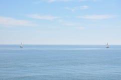 Средиземное море на солнечный день Яхты в море Стоковая Фотография RF
