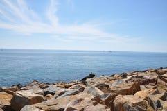 Средиземное море на солнечный день Яхты в море Стоковые Фотографии RF
