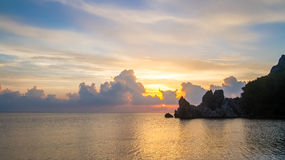 Средиземное море, пляж Cirali рассвет Стоковые Фото