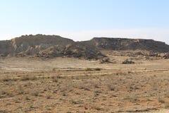 Среди скалистого холма дюн Стоковые Фото