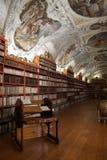 Средневековая библиотека монастыря Strahov Стоковая Фотография RF