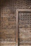 Средневековая дверь с шипами Стоковое Изображение RF