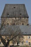 Средневековая герцогская башня в деревне Siedlecin Стоковая Фотография