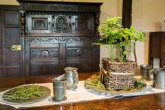 Средневековая гостиная стоковая фотография