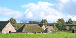 Средневековая деревня Стоковое Фото