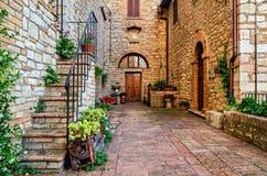 Средневековая деревня Corciano & x28; Umbria& x29; Стоковое Изображение RF