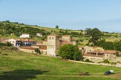Средневековая деревня Santillana Del Mar в Испании Стоковое фото RF