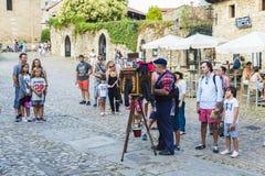 Средневековая деревня Santillana Del Mar в Испании Стоковые Фотографии RF