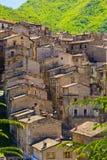 Средневековая деревня Scanno, Абруццо, Италия Стоковое Изображение