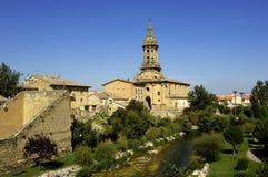 Средневековая деревня Tiron Cuzcurrita de Рио Стоковые Изображения