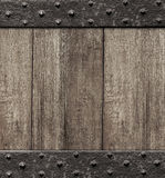 Средневековая деревянная предпосылка двери строба Стоковые Изображения RF
