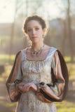 Средневековая женщина стоковые фотографии rf