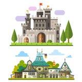 Средневековая каменная крепость Стоковые Изображения