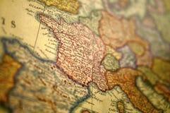 Средневековая карта Европы - Германия Стоковое Фото