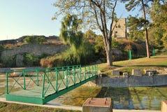 Средневековая крепость Drobeta Turnu Severin стоковая фотография rf