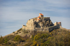 Средневековая крепость Rupea в Румынии стоковое фото