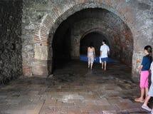 Средневековая прогулка celler Стоковое фото RF