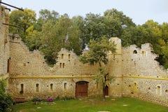 Средневековая руина замка Стоковое Изображение RF
