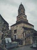 Средневековая румынская каменная церковь Стоковая Фотография RF
