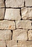 Средневековая стена каменных блоков Стоковые Фото
