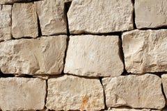 Средневековая стена каменных блоков Стоковое Изображение