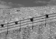 средневековая стена обеспеченностью Стоковые Изображения RF