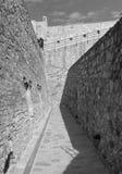 средневековая стена обеспеченностью Стоковое Фото