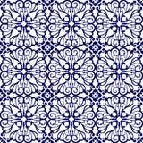 Средневековая флористическая безшовная картина Стоковая Фотография RF