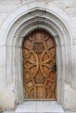 Средневековая церковь замка двери Стоковое Изображение