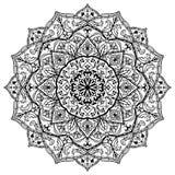 Средневековая черно-белая мандала Стоковое фото RF