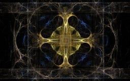 Средневековая эмблема линий Стоковое Изображение RF