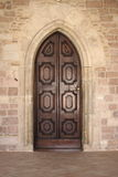 средневековое двери переднее Стоковые Фото
