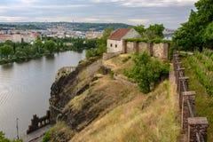 Средневековое здание в Vysehrad, Праге, чехии Стоковые Изображения