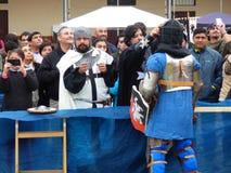 Средневековое событие стоковая фотография