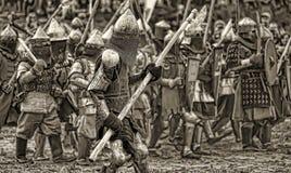 Средневековое сражение Стоковая Фотография