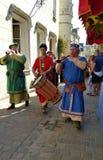 Средневековое шествие фестиваля лета Стоковая Фотография