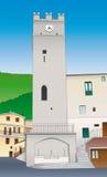средневековое vallepietra башни Стоковое Изображение RF