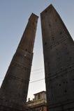 Средневековые башни в болонья Стоковая Фотография