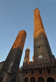 Средневековые башни в болонья Стоковое Изображение RF