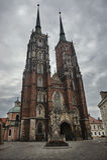 Средневековые, готические башни церков Стоковые Фото