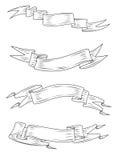 Средневековые ленты и знамена Стоковые Изображения RF