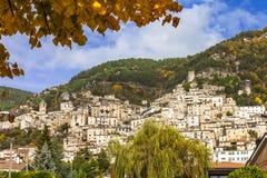 Средневековые деревни Италии Стоковые Изображения RF