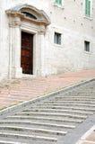 Средневековые лестницы в Перудже Стоковое Изображение RF