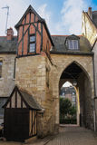 Средневековые здания в старом городке путешествия Франция стоковые фото