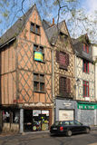 Средневековые здания на месте du Грандиозн Марше путешествия Франция Стоковое Изображение RF