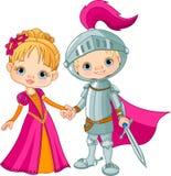 Средневековые мальчик и девушка Стоковая Фотография RF