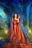 Средневековые мистические женщины Стоковые Фото